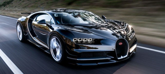 bugatti chiron on road
